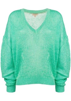 Burberry slouchy ribbed knit sweater