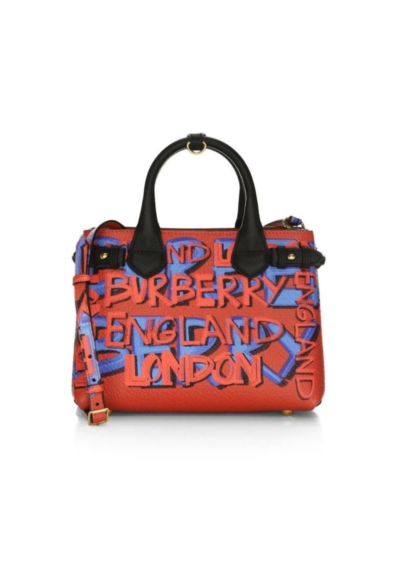 3e0af8d9fe23 Burberry Small Banner Graffiti-Print Leather Mini Bag