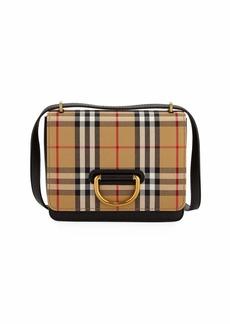 1935dc75e391 Burberry Small D-Ring Check Crossbody Messenger Bag