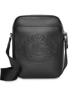 Burberry Small Embossed Crest Leather Crossbody Bag