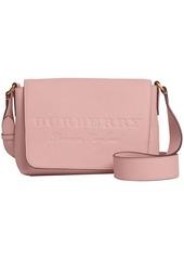 Burberry small embossed messenger bag