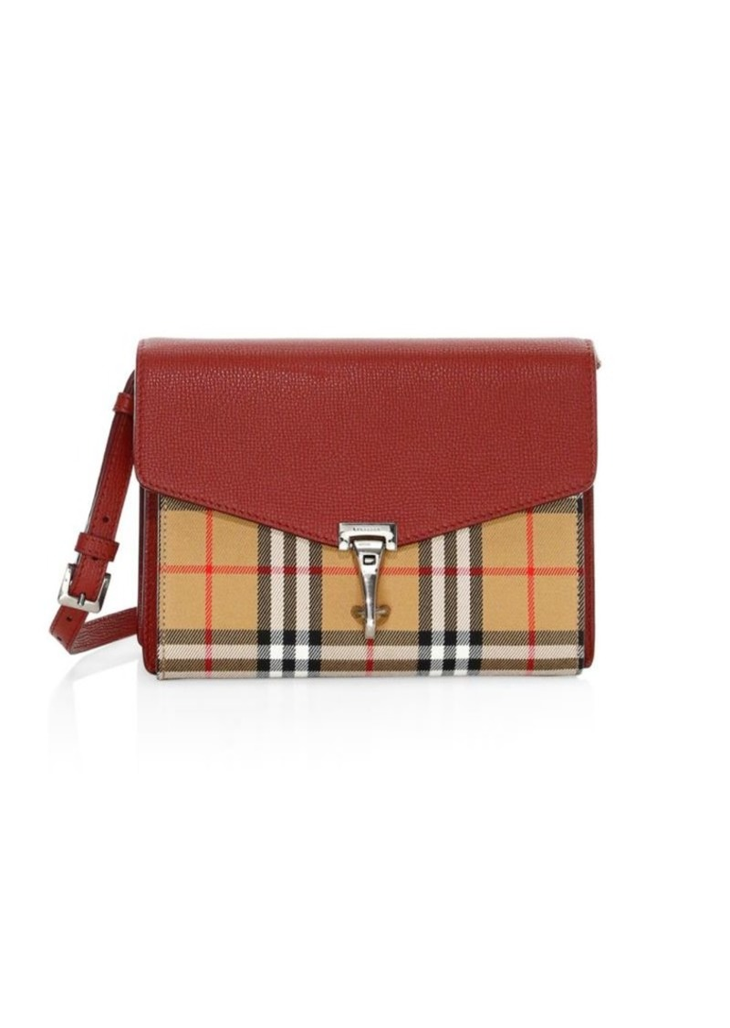 b8d43ec09c21 Burberry Small Mackenzie Vintage Check Derby Leather Crossbody Bag ...