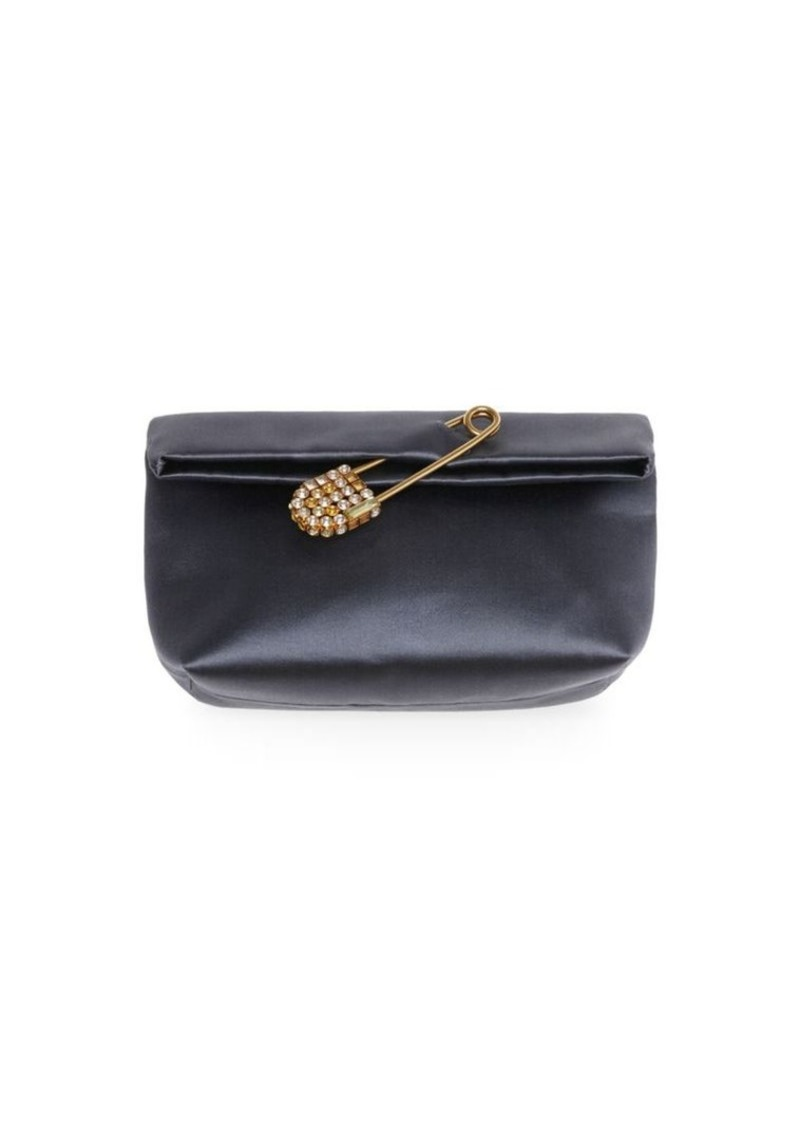d5cedd022de5 Burberry Small Pin Satin Clutch