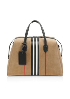 Burberry Southcombe Icon-Stripe Suede Clutch