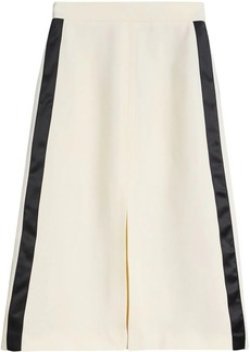 Burberry Sport Stripe Wool Silk A-line Skirt
