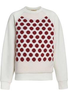 Burberry Spot Print Merino Wool and Jersey Sweater