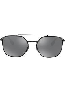 Burberry square frame aviator sunglasses
