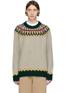 Burberry SSENSE Exclusive Beige Wool Gunner Sweater