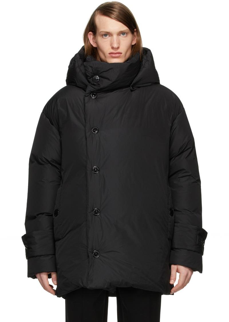 Burberry SSENSE Exclusive Black Down Oversized Wrap Coat
