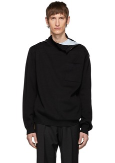Burberry SSENSE Exclusive Black Knit Rollneck Sweater
