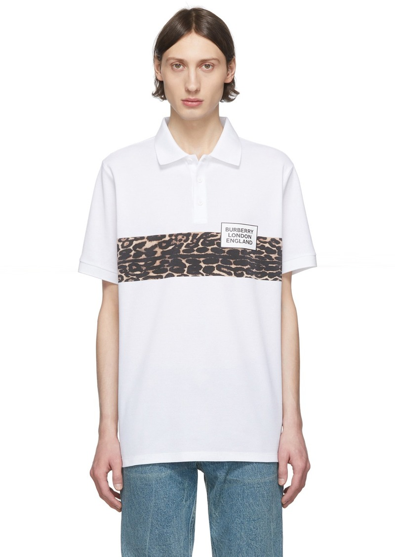 Burberry SSENSE Exclusive White Somerville Printed Polo