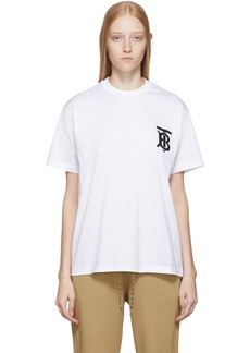Burberry SSENSE Exclusive White TB T-Shirt