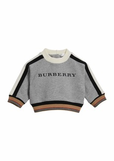 Burberry Stanley Logo Striped-Trim Sweatshirt