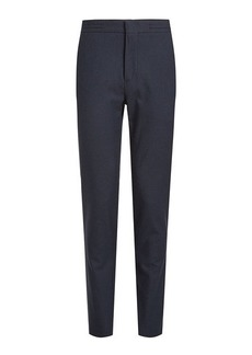 Burberry Staveley Printed Pants with Cotton and Wool