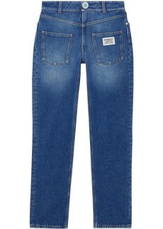 Burberry straight-fit logo detail jeans