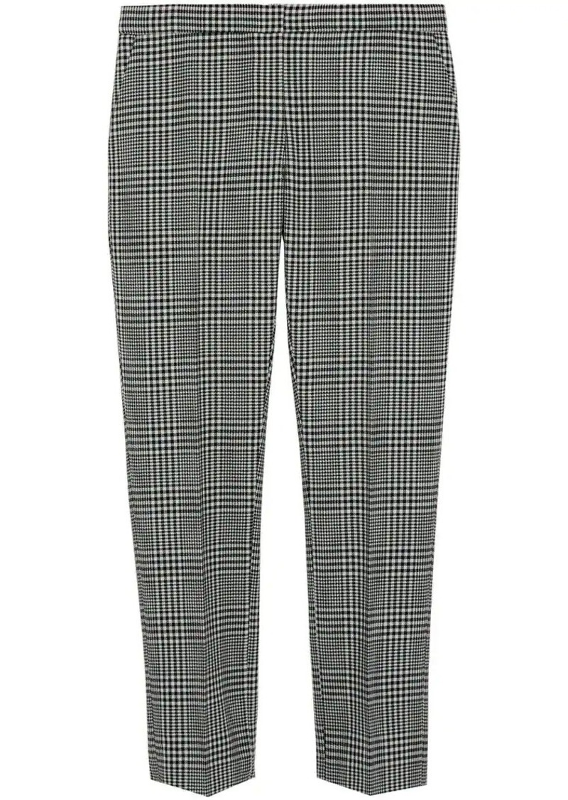 a787f5070c Straight Fit Prince of Wales Check Wool Trousers