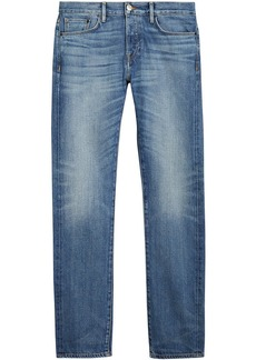 Burberry Straight Fit Washed Japanese Selvedge Denim Jeans