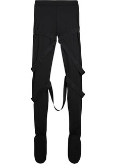 Burberry Strap Detail Stretch Jersey Leggings