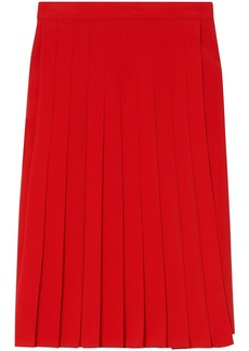 Burberry Stretch Cady Pleated Skirt
