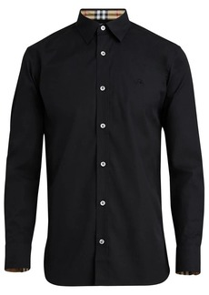 Burberry plain button down shirt