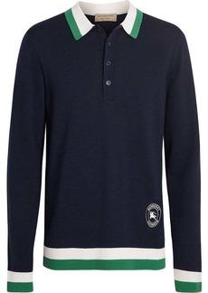 Burberry stripe detail polo shirt