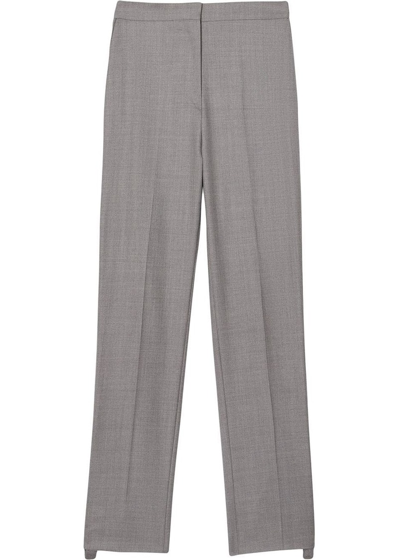 Burberry Stripe Detail Wool Trousers