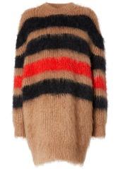 Burberry stripe-intarsia oversized jumper