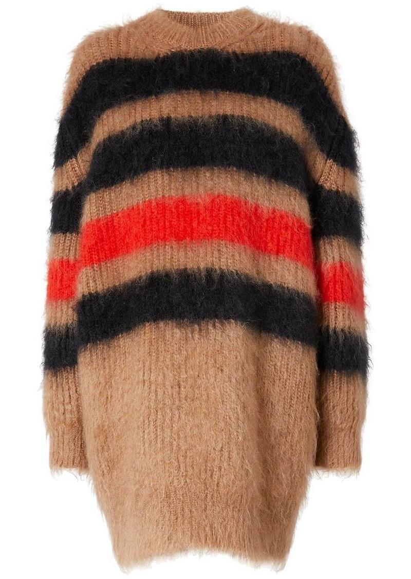stripe-intarsia oversized jumper