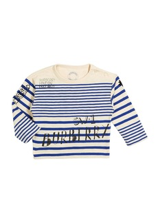 Burberry Stripe Scribble-Print Long-Sleeve Shirt