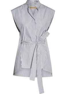 Burberry Striped Cotton Sleeveless Shirt