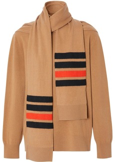 Burberry striped scarf-detail jumper