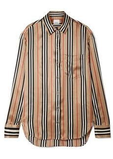 Burberry Striped Silk-satin Shirt