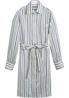 Burberry Striped Silk Shirt Dress