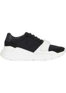 Burberry Suede, Neoprene and Leather Sneakers