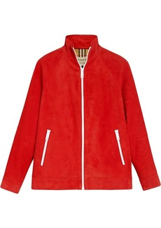 Burberry Suede Tracksuit Jacket