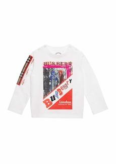 Burberry Sweet Wrap Logo Graphic Long-Sleeve Shirt