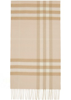 Burberry Tan Cashmere Giant Check Scarf