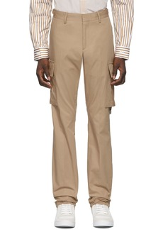 Burberry Tan Classic Web Trousers