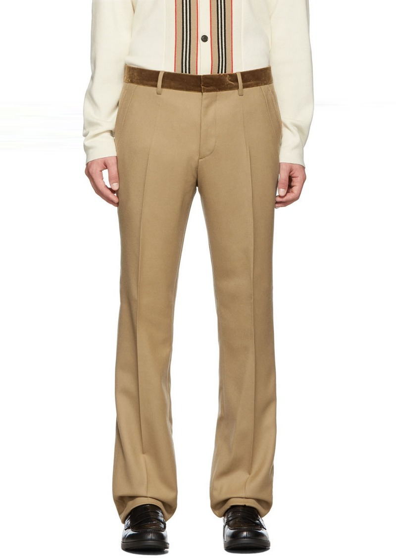 Burberry Tan Formal Trousers
