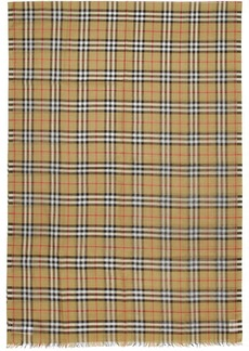 Burberry Tan Gauze Giant Check Scarf