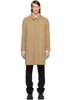 Burberry Tan Single Breasted Coat
