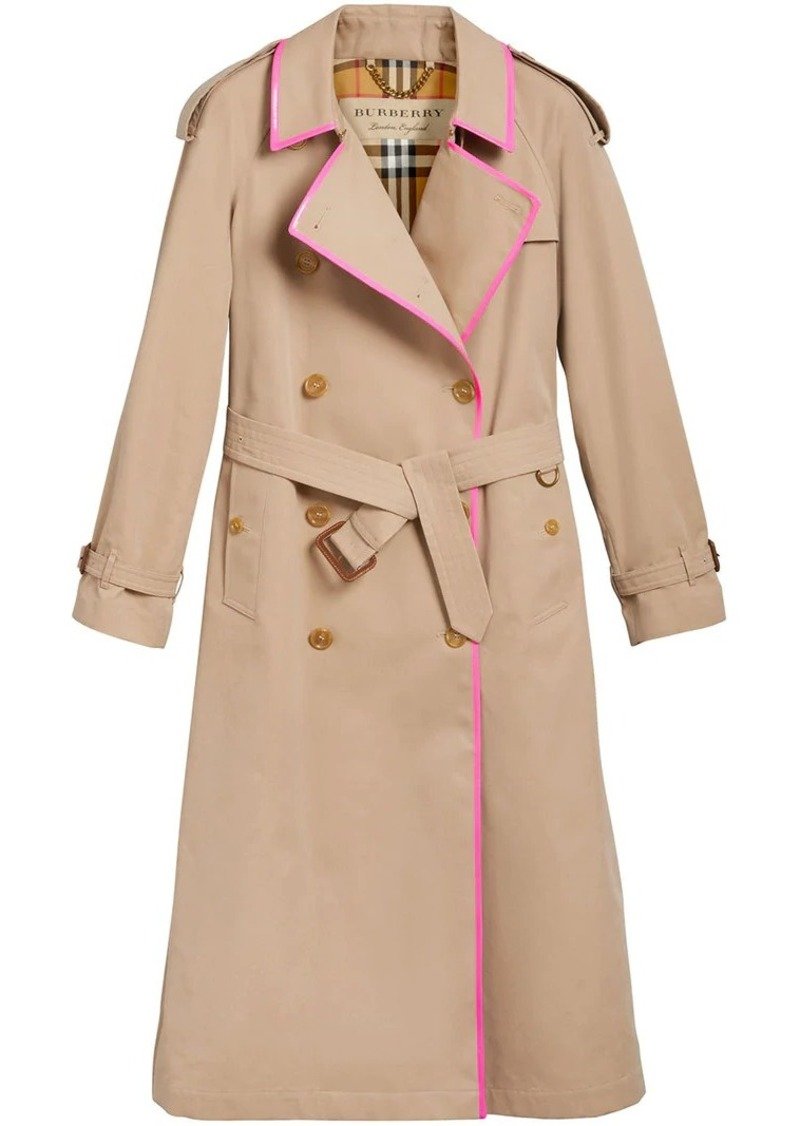 Burberry Tape Detail Cotton Gabardine Trench Coat