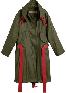 Burberry Tape Detail Showerproof Hooded Parka