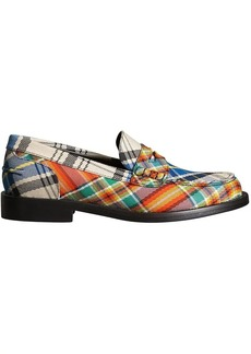 Burberry Tartan Cotton Penny Loafers