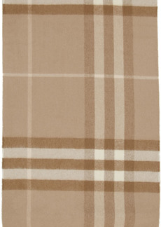 Burberry Taupe Cashmere Giant Check Scarf