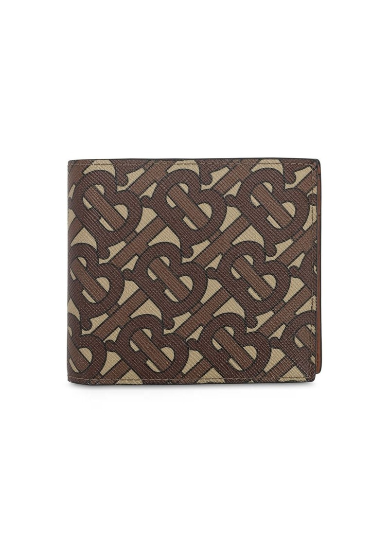 Burberry Tb Coated Print Cc Billfold Coin Wallet