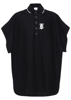 Burberry Tb Logo Cotton Blend Polo Cape