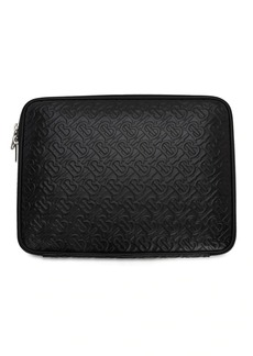 Burberry Tb Logo Embossed Leather Laptop Case