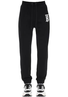 Burberry Tb Logo Print Cotton Jersey Sweatpants