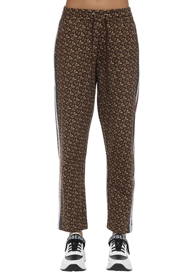 Burberry Tb Monogram Cotton Jersey Sweatpants